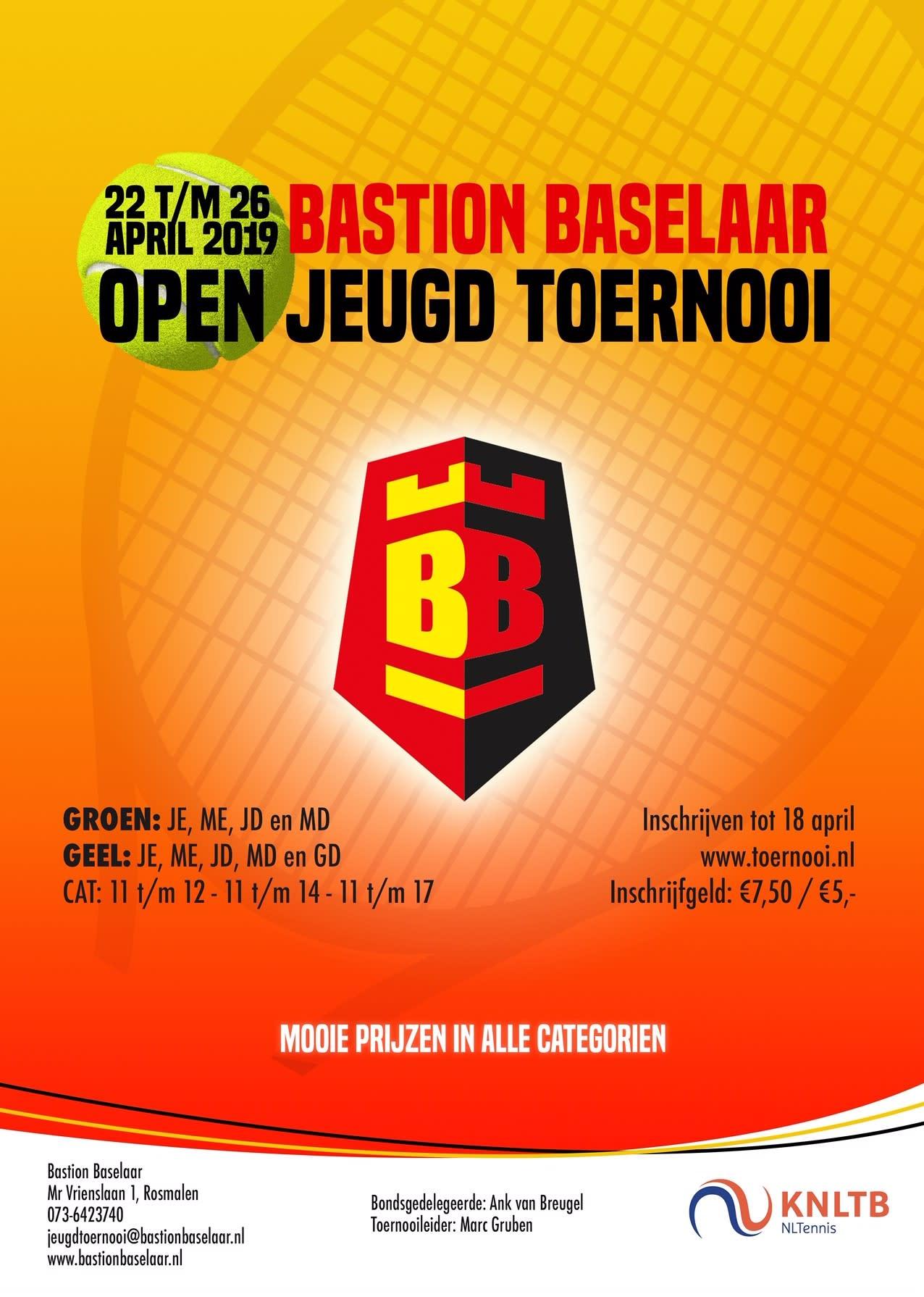Open Junioren toernooi poster